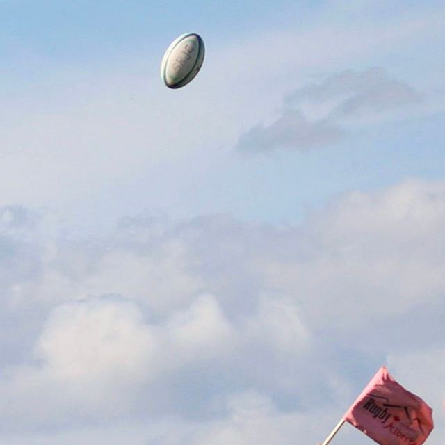 Rugby Ball in the air for SRJC Social Media