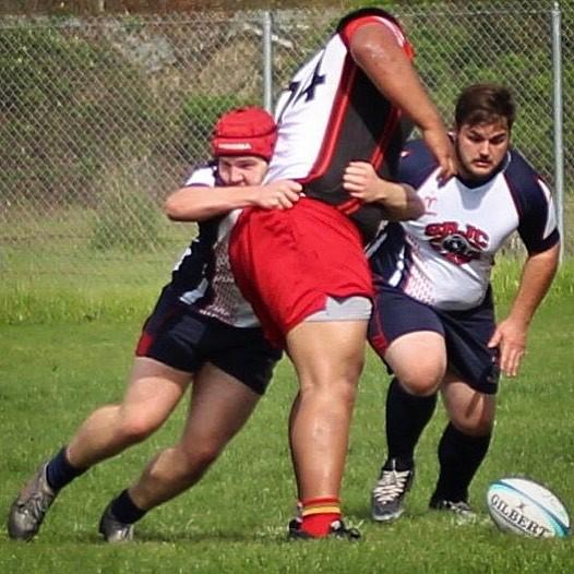 Go Big or Go Home SRJC Rugby Tackle Attempt Image for Social Media