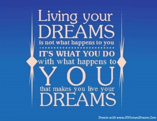 Motivational Dream Quote for Social Media 8WomenDream Early Work