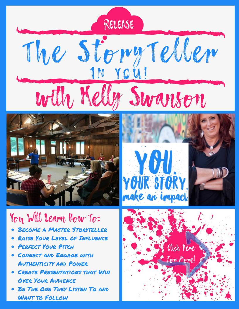 Kelly Swanson StoryTeller Ad Promo