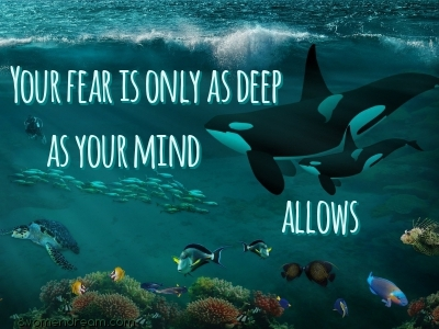 Using Fear to Your Advantage quote for 8WomenDream Article