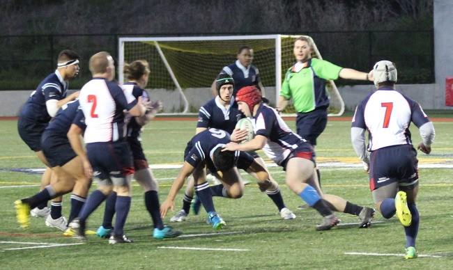SRJC Rugby Social Media Image Rugby Player Brian Cox Running With the Rugby Ball