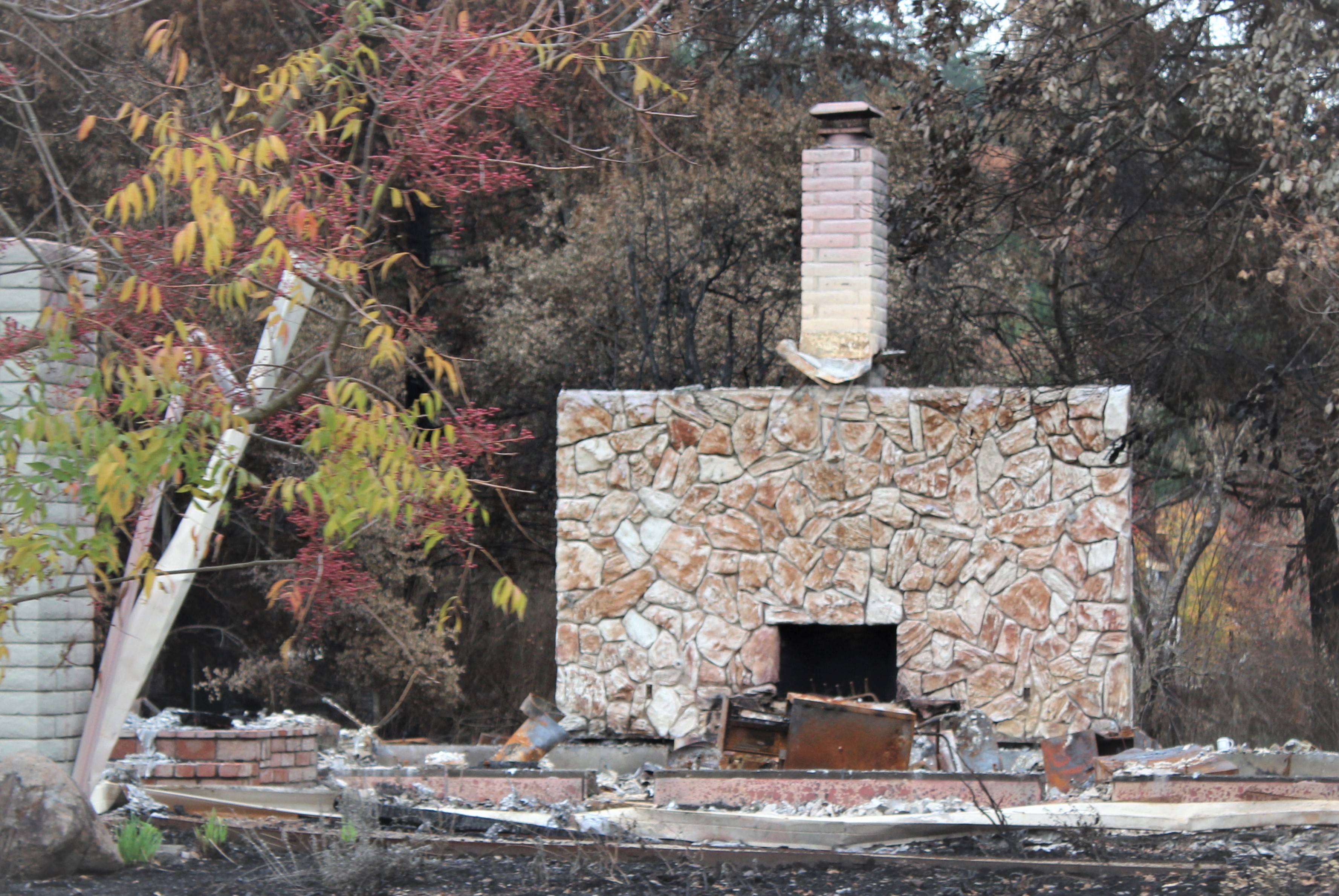 The only thing left from a Fountaingrove Home Santa Rosa Fire
