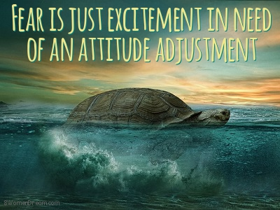 Fear is Just Excitement in Need of An Attitude Adjustment Image Quote for 8WD Article