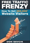 Free Traffic Frenzy: How To Get 450,000+ Website Visitors book on Amazon